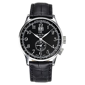 Carl of Zeyten men's watch wristwatch quartz Etterlin CVZ0006BK