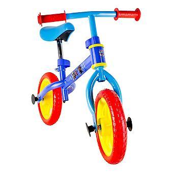 PAW PATROL Metal Balance Bike with Adjustable Handlebar and Seat -red/blue