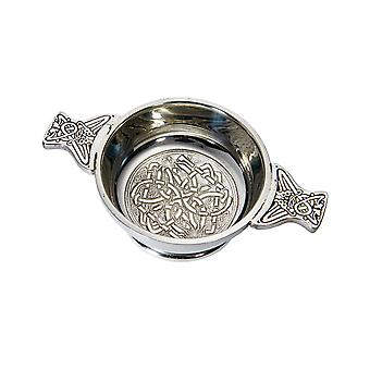 Celtic Standard Embossed Pewter Quaich
