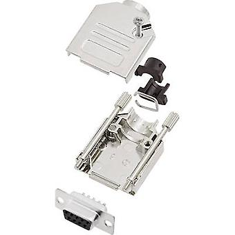Encitech gniazdo D-SUB DTCK09-DBS-K zestaw 180 ° Ilość pinów: 9 lutu wiaderko 1 zestaw