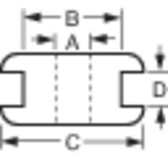 Kabeltülle Klemme (max.) 12 mm Platinendicke (max.) 1 mm PVC Schwarz 1 Stk.