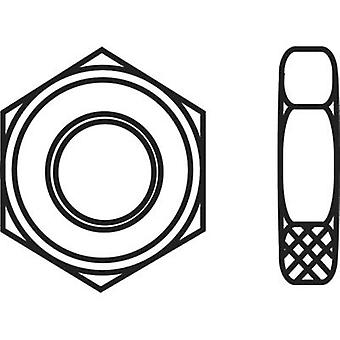 TOOLCRAFT 827817 Hexagonal nuts M4 DIN 439 Steel zinc plated 100 pc(s)