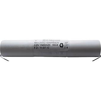 Beltrona 3DSC1500HSCLG Emergency light battery U solder tab 3.6 V 1500 mAh