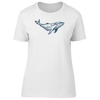 Disegno di una balena Tee femminile della mano-immagine di Shutterstock