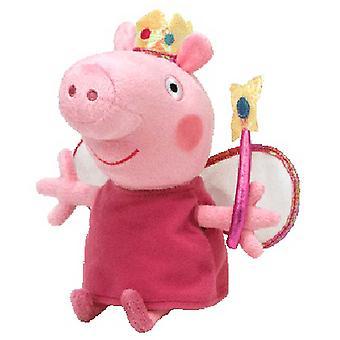 "Peppa Pig TY Plush 7"" Princess Peppa"