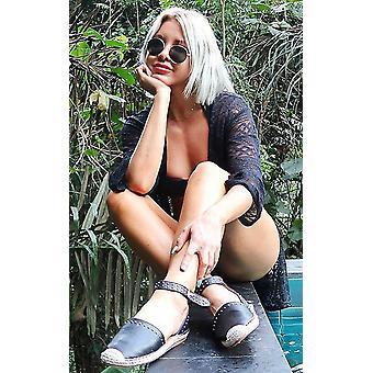 IKRUSH dame Steffi besat Espadrille sandaler