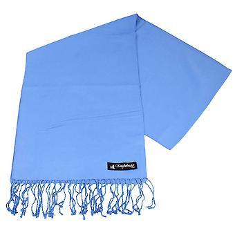 Knightsbridge cravatte pianura sciarpa - blu chiaro