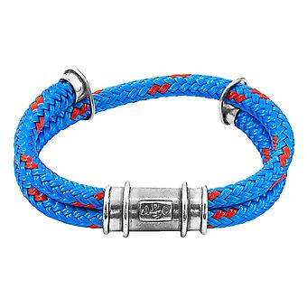 Anchor and Crew Larne Rope Bracelet - Blue/Silver
