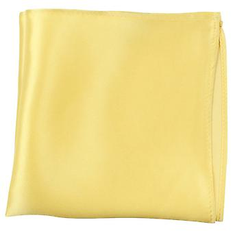 Knightsbridge Neckwear Fine Silk Pocket Square - Yellow