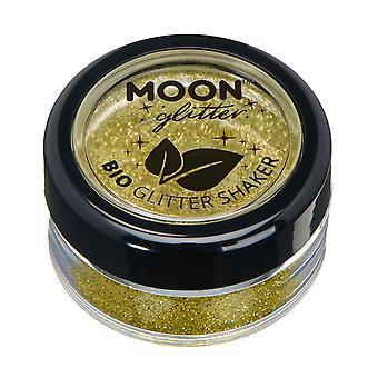 Coctelera de biodegradables Eco brillo de luna brillo - Glitter 100% Bio cosméticos para rostro, cuerpo, uñas, pelo y labios - 5g - oro