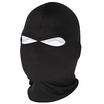 TRIXES Black Lyrca Full Face Mask Balaclava for Motorcycling Outside