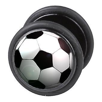Falsk fuskare örat Plug, örhänge, piercingsmycken, fotboll