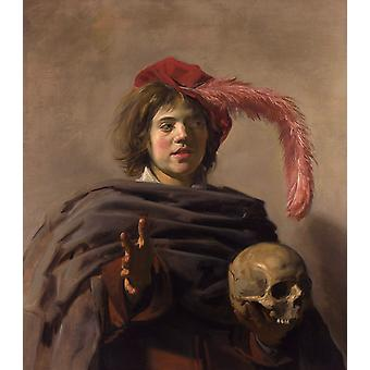 Young Man with a Skull, Frans Hals, 60x50cm
