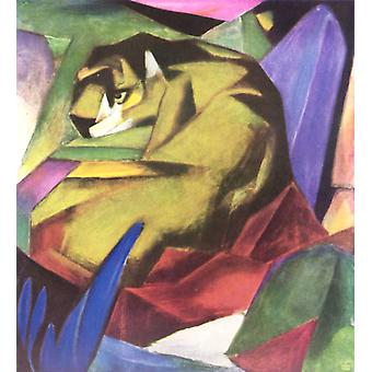 Tigeren, Franz Marc, 60x50cm