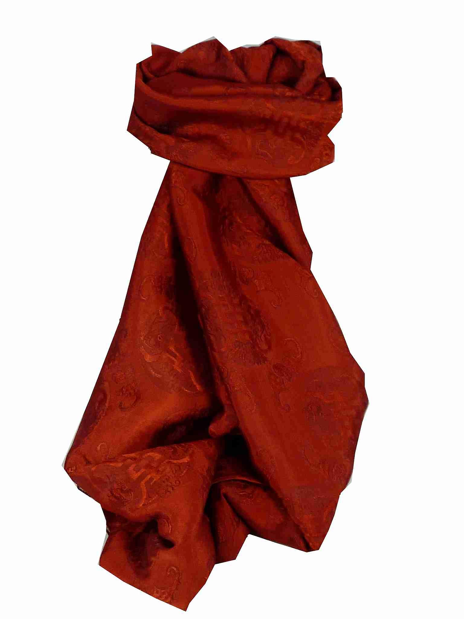 Vietnamese Silk Scarf Reversible Hoi-An Vung-Tau Ruby by Pashmina & Silk