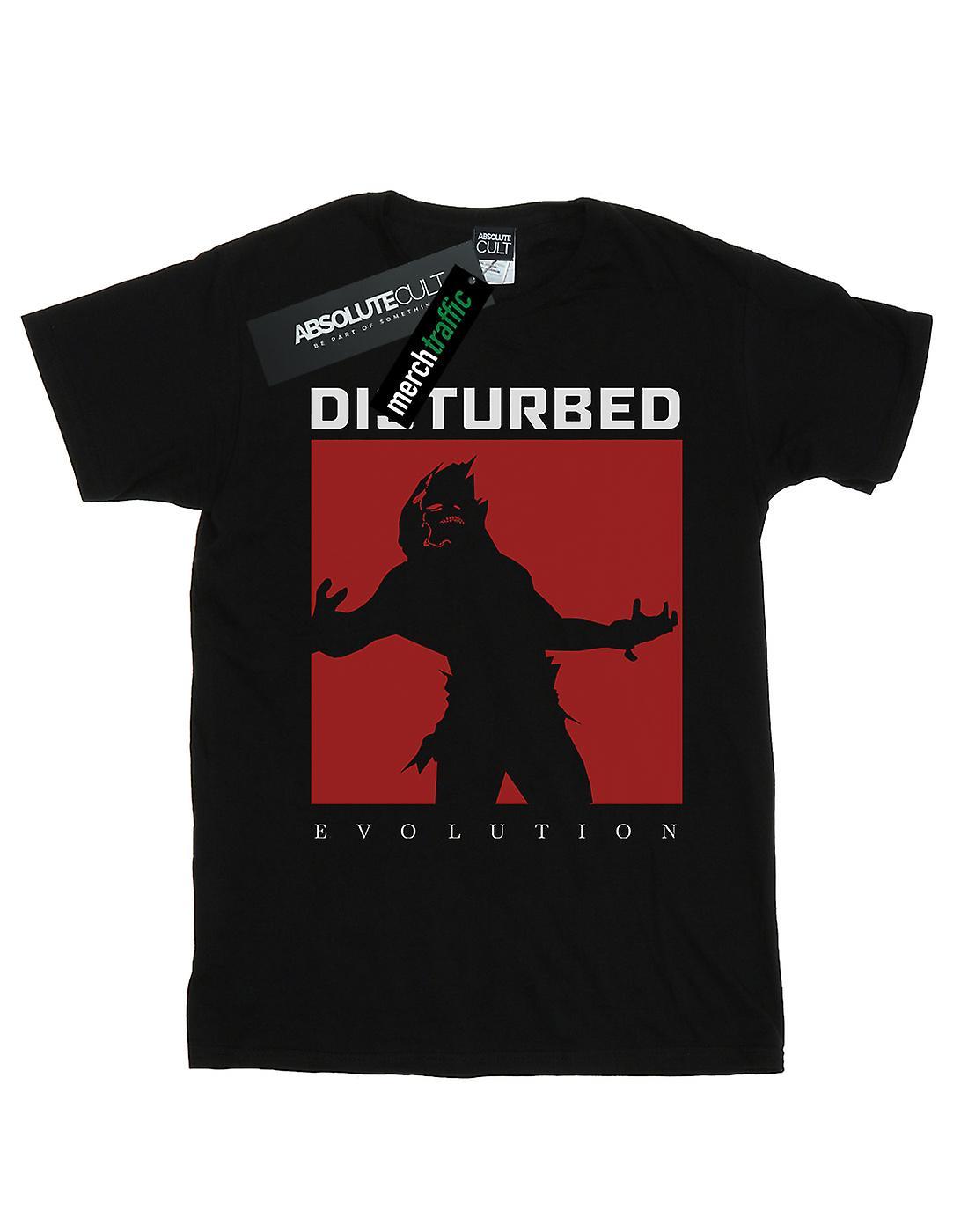 Disturbed Women's Evolution Square Boyfriend Fit T-Shirt