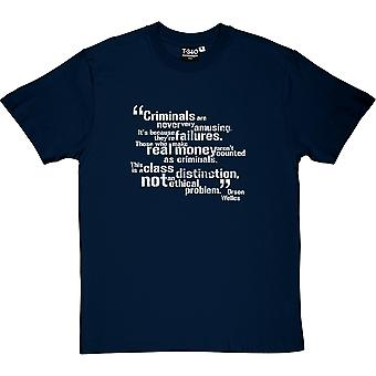 Orson Welles Klasse Unterscheidung Zitat Herren T-Shirt