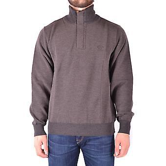 Paul & Shark Ezbc042053 Men's Brown Wool Sweater