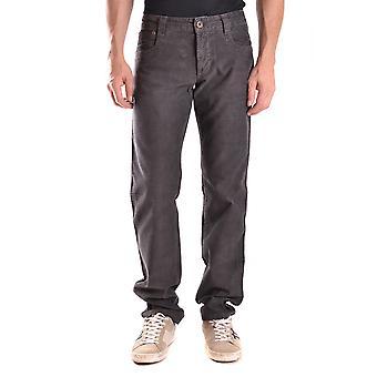 Bikkembergs Ezbc101047 Men's Grey Cotton Jeans