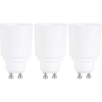 Bulb holder adapter GU10 to E27 3-piece set Renkforce 97029c81g 230 V 75 W