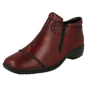 Las señoras Rieker paño grueso y suave alineado tobillo botas L3888