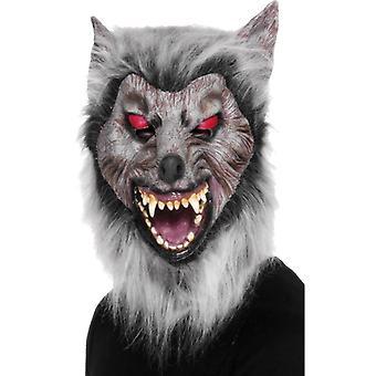 Wilkołak wilkołaka maska Halloween lateks z włosów