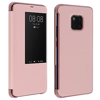 Smart view window flip case for Huawei Mate 20 Pro - Rose gold