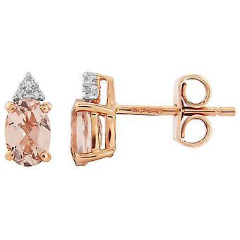 Mark Milton Diamond and Morganite Earrings - Rose Gold
