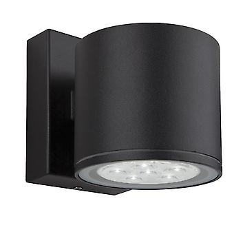 Firstlight-LED 6 Light Single Wall Light Black IP44-8084BK