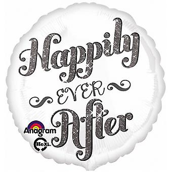 Anagram Happily Ever After Round Foil Balloon