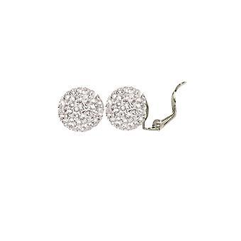 Ewige Sammlung Shamballa Glitter Ball Silber Ton Stud Clip auf Ohrringe