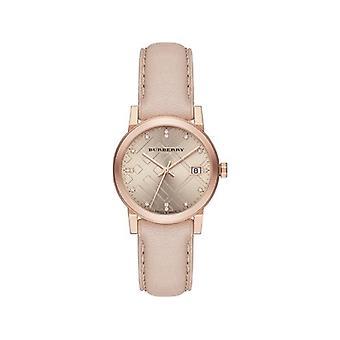 Burberry Bu9131 rose cadran rose or ion-plaqué Mesdames Watch