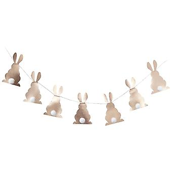Rose Gold Bunny with Pom Poms Tails Easter Peter Rabbit Party 2m