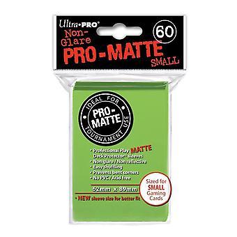 Ultra Pro Pro Matte pequenas mangas de cartão-verde