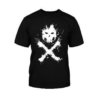 Captain America Kids T Shirt Civil War Crossbones Logo new Official Mens Black