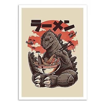 Art-Poster-Kaiju ramen-Ilustrata 50 x 70 cm