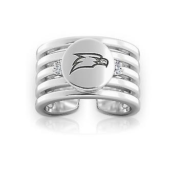Georgia Southern University Engraved Sterling Silver Diamond Multiband Cuff Ring