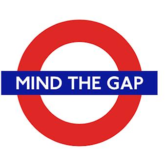 Tfl™5102 licensed mind the gap™ roundel vinyl sticker