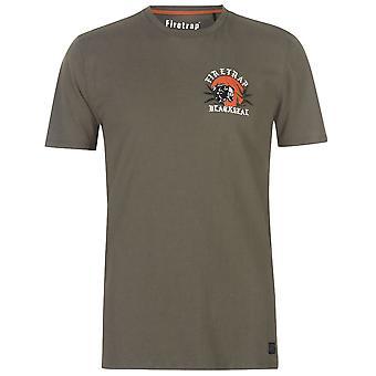 Camisa de gola de Pantera Mens T caixa de fósforos