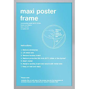 Eton sølvfarget ramme Maxi plakat / ut rammen