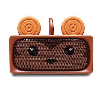 Bluetooth Speaker Adorable Monkey Wireless Microphone 6H MOB Brown