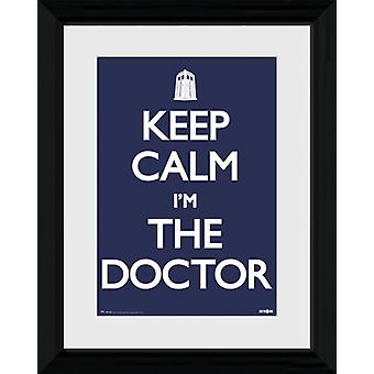 Doctor Who Keep Calm Framed Collector Print 40x30cm