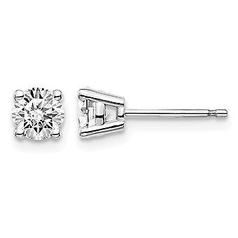 3/4 Carat (ctw VS2-SI1, D-E-F) Lab Grown Diamond Solitaire Stud Earrings in 14K White Gold
