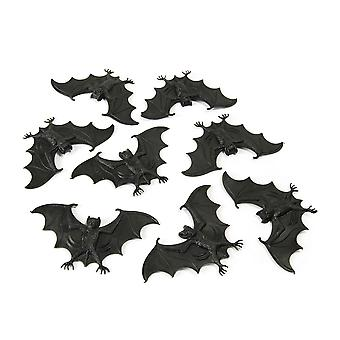 Bristol Novelty Plastic Bats (Pack Of 8)