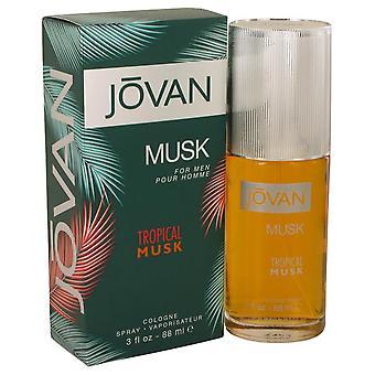 Jovan Tropical Musk Cologne Spray By Jovan   540075 90 ml