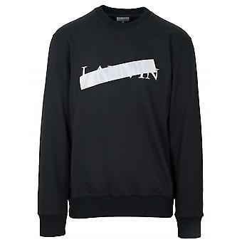 Lanvin zwart reflecterende cross Sweatshirt