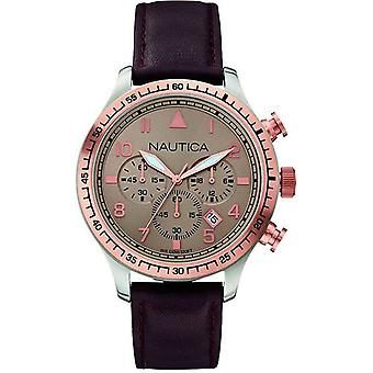 nautica- bfd 105 chrono Japanese Quartz Analog Man Watch with A17656G Cowskin Bracelet