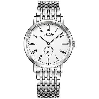 Rotary Mens Windsor Offset Stainless Steel Bracelet GB05310/01 Watch