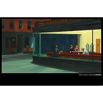 Edward Hopper juliste Nighthawks maisema 61 x 91,5 cm