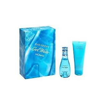 Davidoff Cool Water Frau Welle Geschenk Set 30ml EDT + 75ml Body Lotion